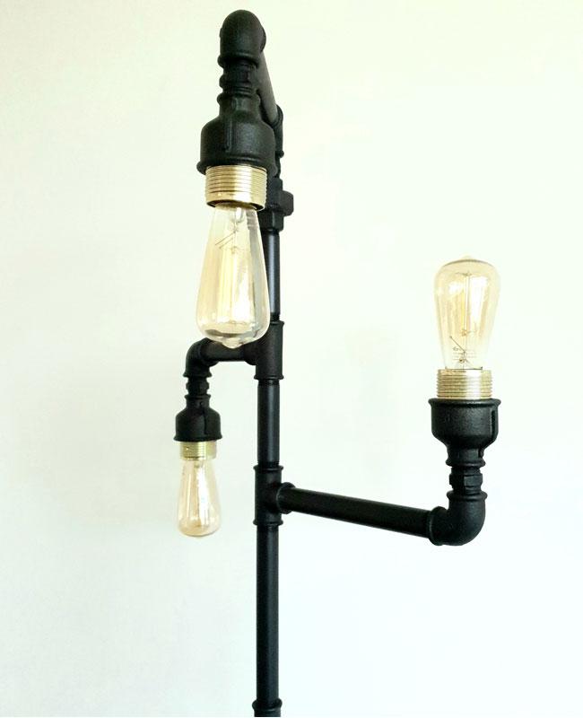 Diblun - lampa de podea steampunk