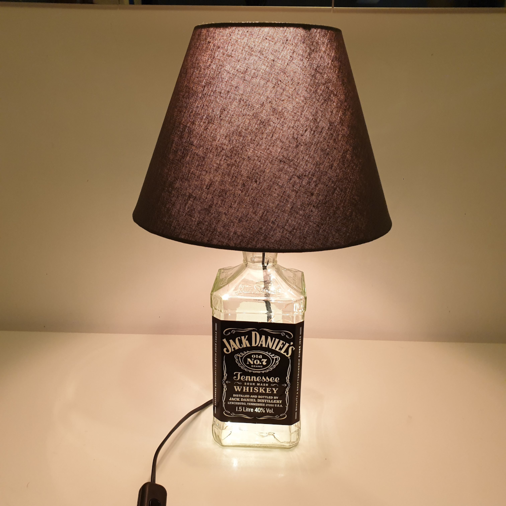 Jack- lampa de sticla whiskey reconditionata