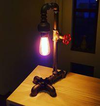 Lampa steampunk industrial Sekho